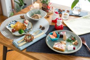 和食器で、簡単クリスマス